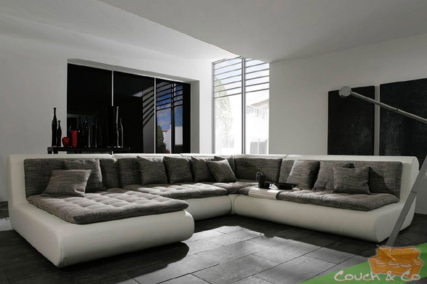 textil leder couch sofa couchgarnitur sofagarnitur exit. Black Bedroom Furniture Sets. Home Design Ideas