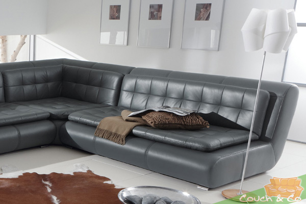 echt leder couch sofa couchgarnitur sofagarnitur exit lc ebay. Black Bedroom Furniture Sets. Home Design Ideas