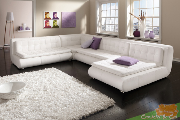 echt leder couch sofa couchgarnitur sofagarnitur exit la ebay. Black Bedroom Furniture Sets. Home Design Ideas