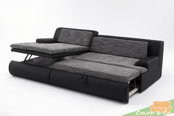 sofa zum ausziehen gunstig carprola for. Black Bedroom Furniture Sets. Home Design Ideas