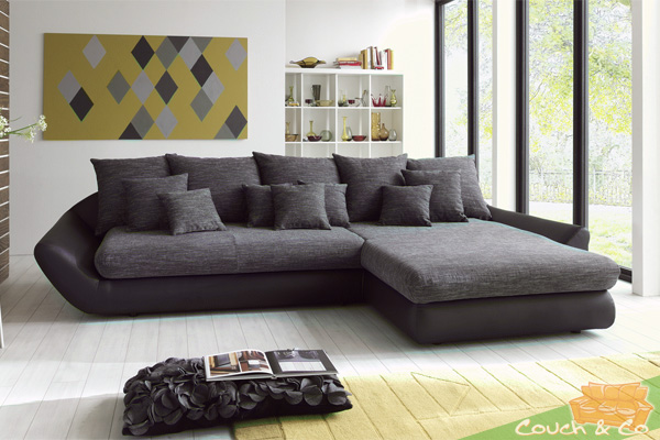 loungesofa wohnlandschaft sofa couch ecksofa eckcouch sunset recamiere rechtsneu ebay. Black Bedroom Furniture Sets. Home Design Ideas