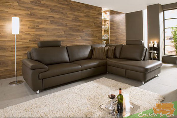 echtleder couch sofa couchgarnitur sofagarnitur toronto in schoko neu ebay. Black Bedroom Furniture Sets. Home Design Ideas