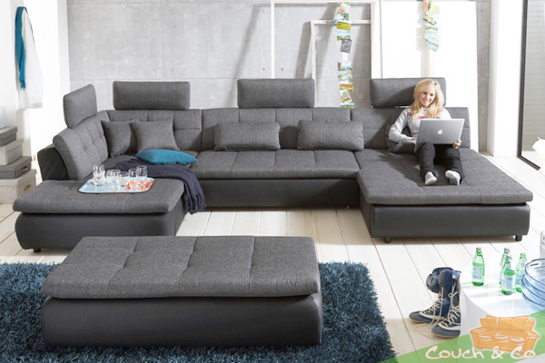 loungesofa wohnlandschaft sofa couch ecksofa eckcouch plansofa free c ebay. Black Bedroom Furniture Sets. Home Design Ideas