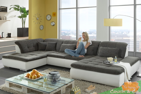 loungesofa wohnlandschaft sofa couch ecksofa eckcouch plansofa linos c ebay. Black Bedroom Furniture Sets. Home Design Ideas