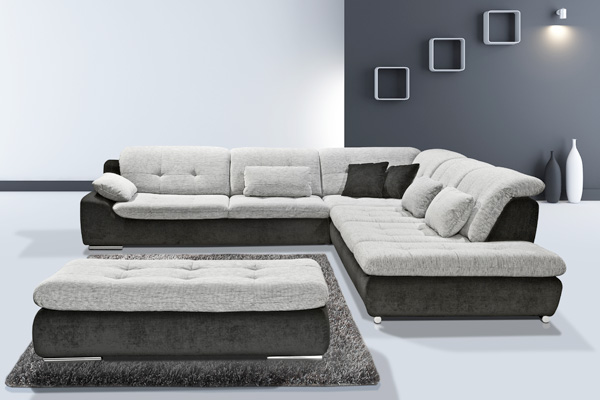 spike ecksofa couch sofa megasofa bigsofa ebay. Black Bedroom Furniture Sets. Home Design Ideas