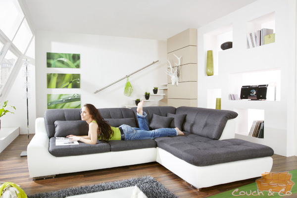 loungesofa wohnlandschaft sofa couch ecksofa eckcouch plansofa spike 4 ebay. Black Bedroom Furniture Sets. Home Design Ideas