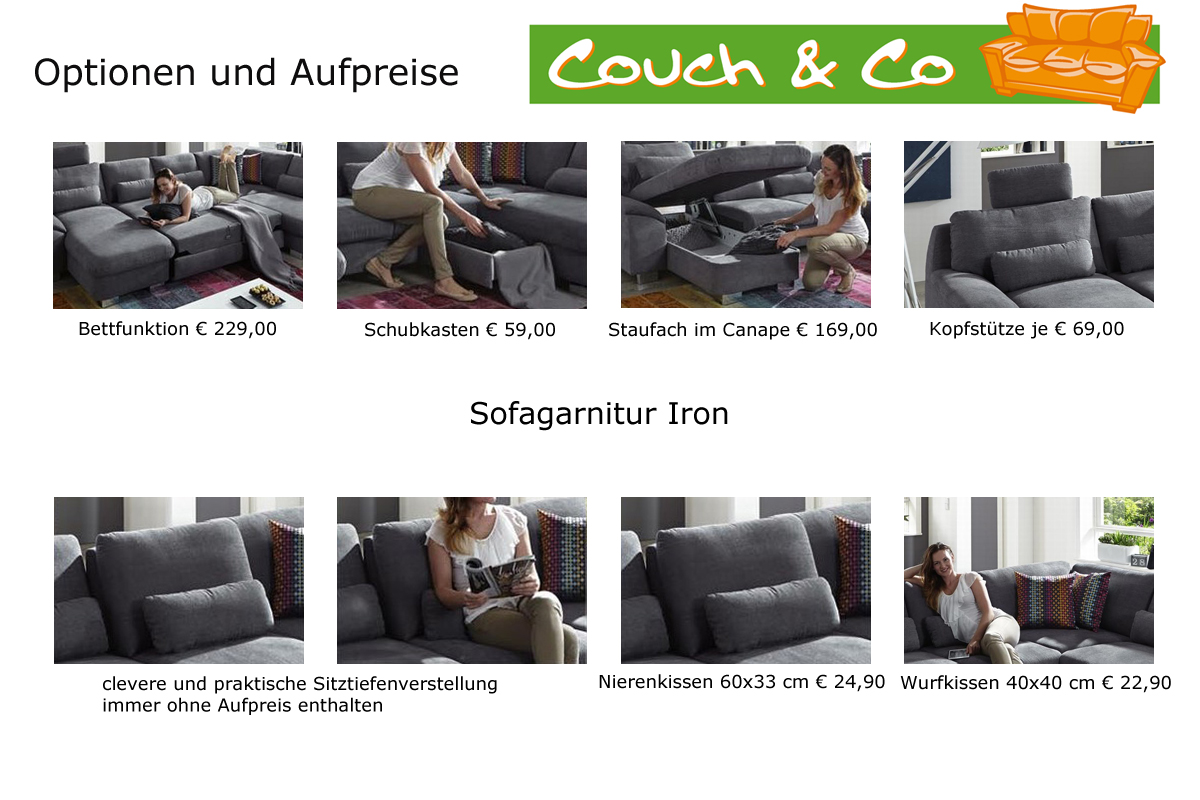 plansofa sofagarnitur sofa couchgarnitur wohnlandschaft iron a zehdenick neu ebay. Black Bedroom Furniture Sets. Home Design Ideas